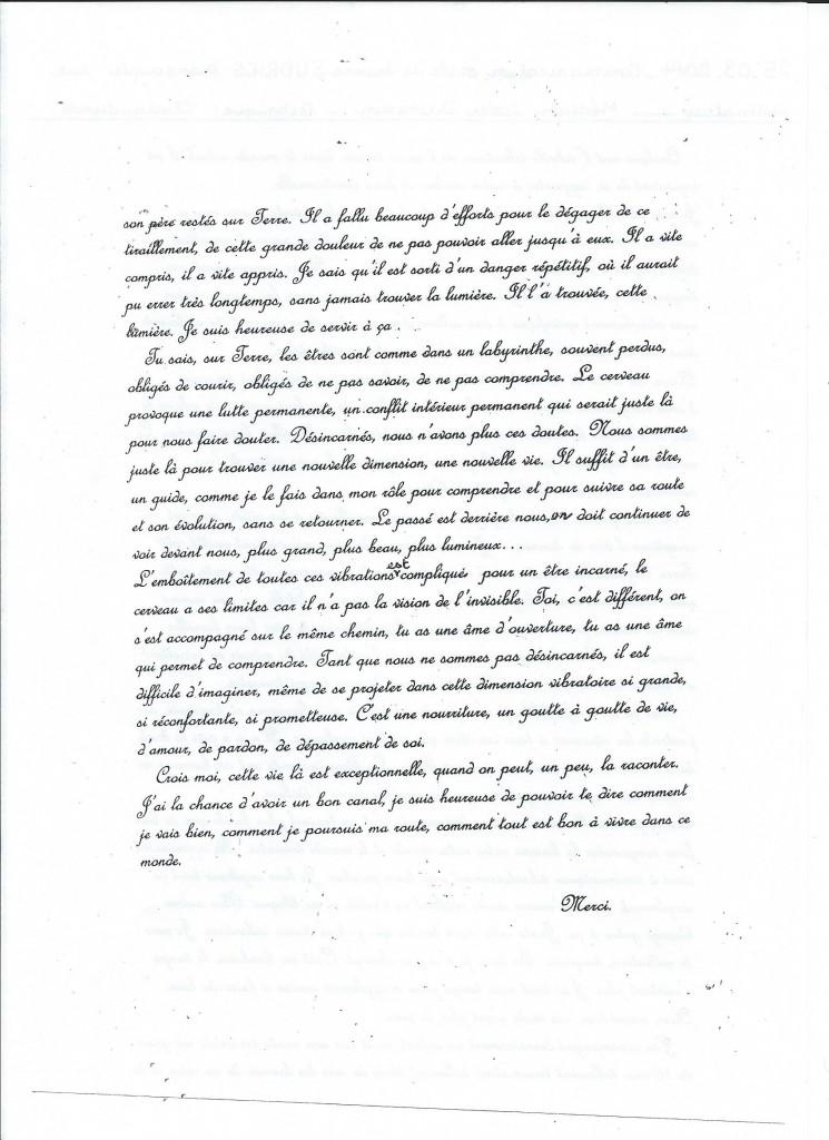 Retranscription d'une communication de Jeanne le 25 mars 2014. (2/2)