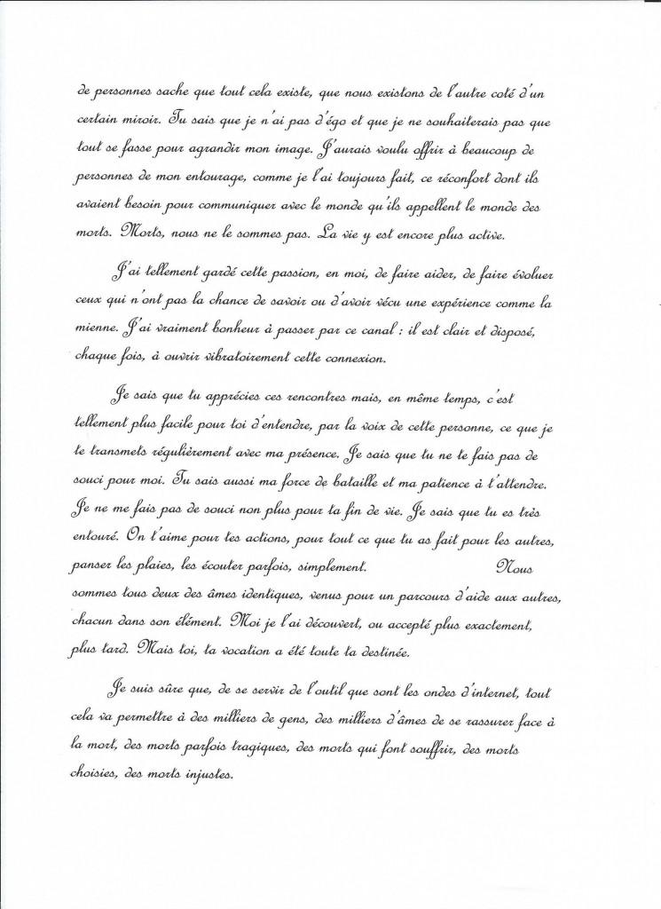 Retranscription d'une communication de Jeanne le 25 septembre 2014. (2/3)