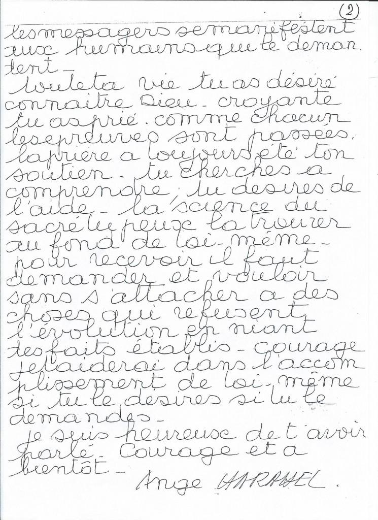 Communication de l'Ange Harahel à sa filleule Mathilde. (2/2)
