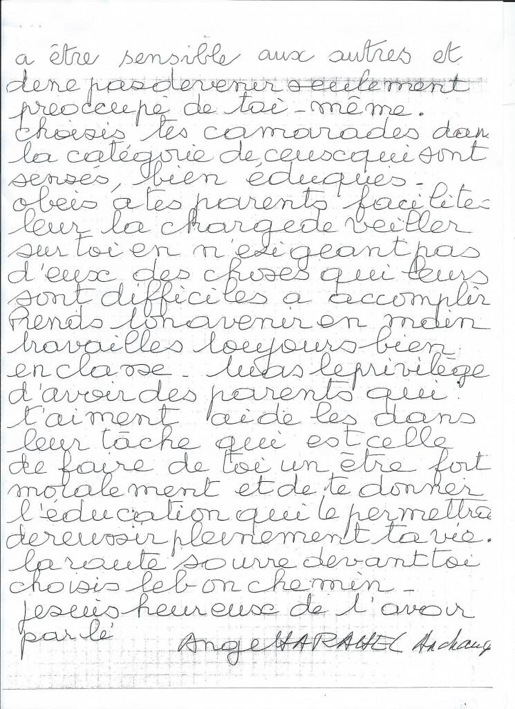 Communication de l'Ange Harahel à son filleul Jérôme. (2/2)